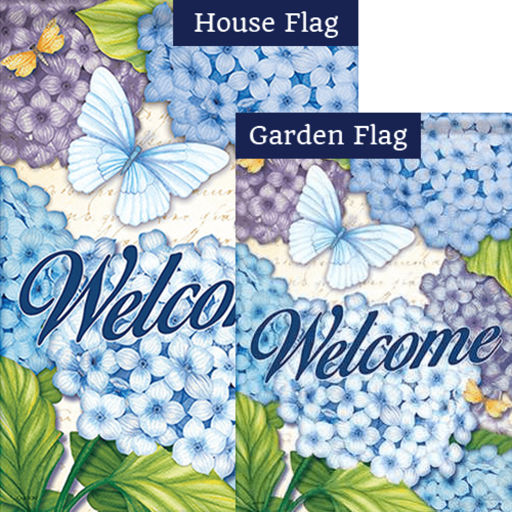 Beautiful Blues Double Sided Flags Set (2 Pieces)