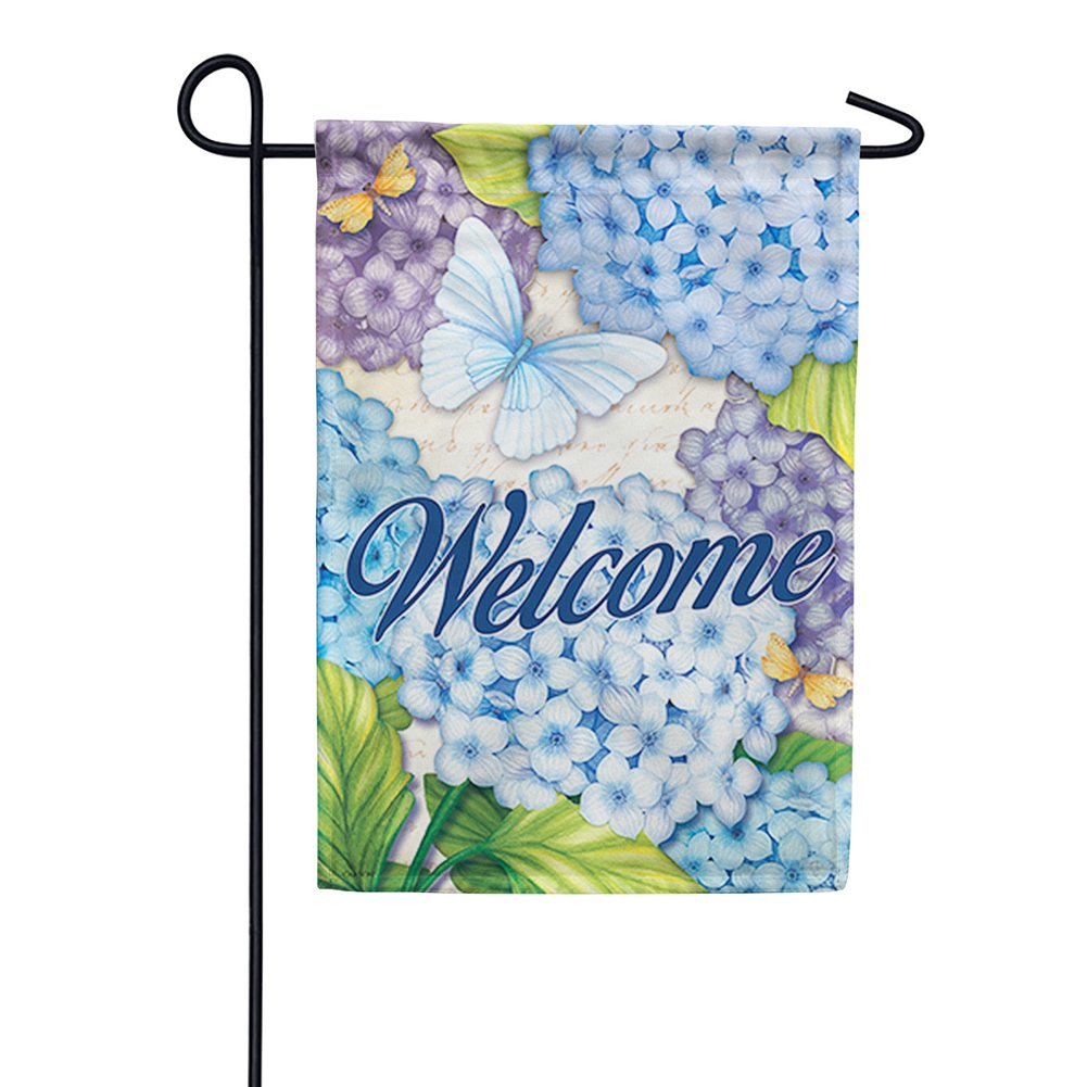 Beautiful Blues Double Sided Garden Flag