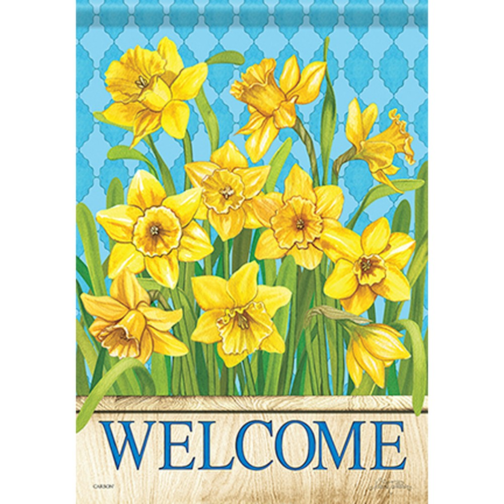 Happy Daffodils Double Sided Garden Flag