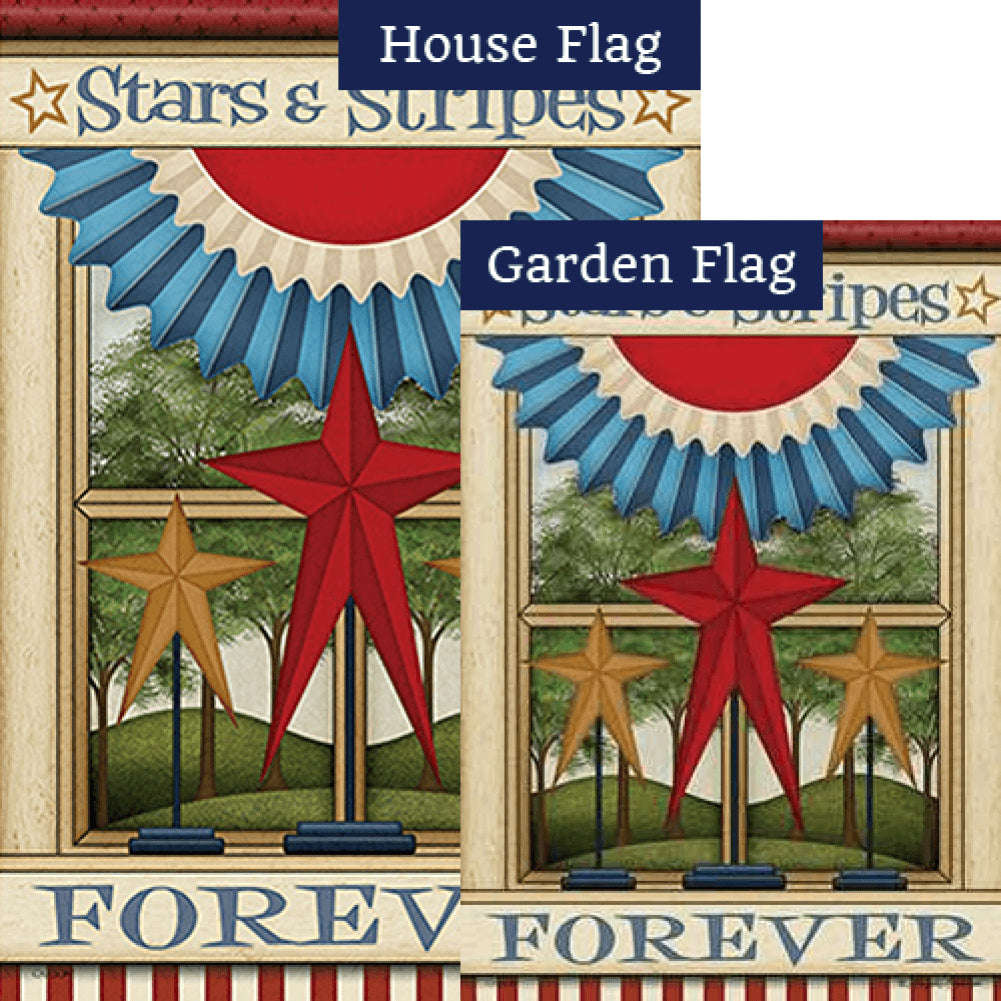 Stars & Stripes Forever Double Sided Flags Set (2 Pieces)
