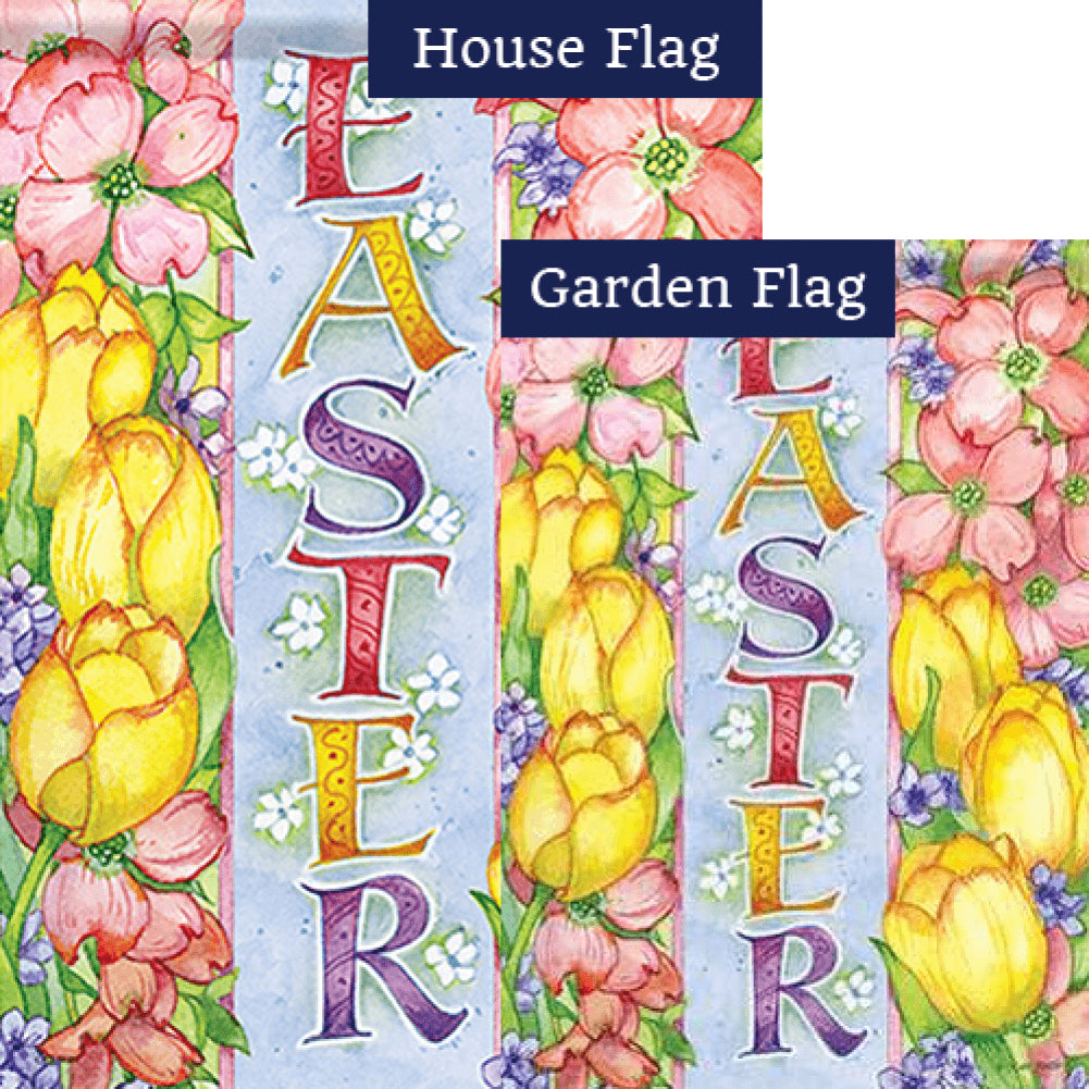 Easter Joy Double Sided Flags Set (2 Pieces)