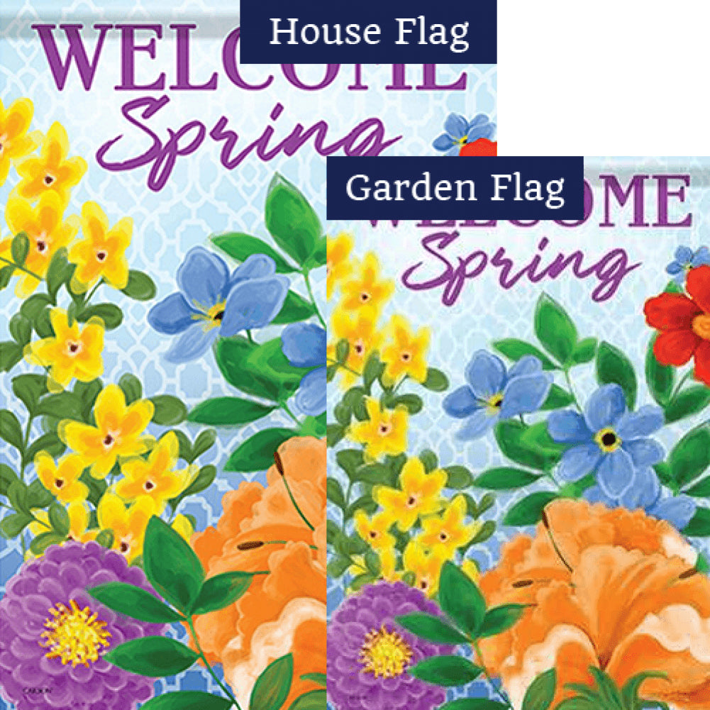 Colorful Blend Double Sided Flags Set (2 Pieces)