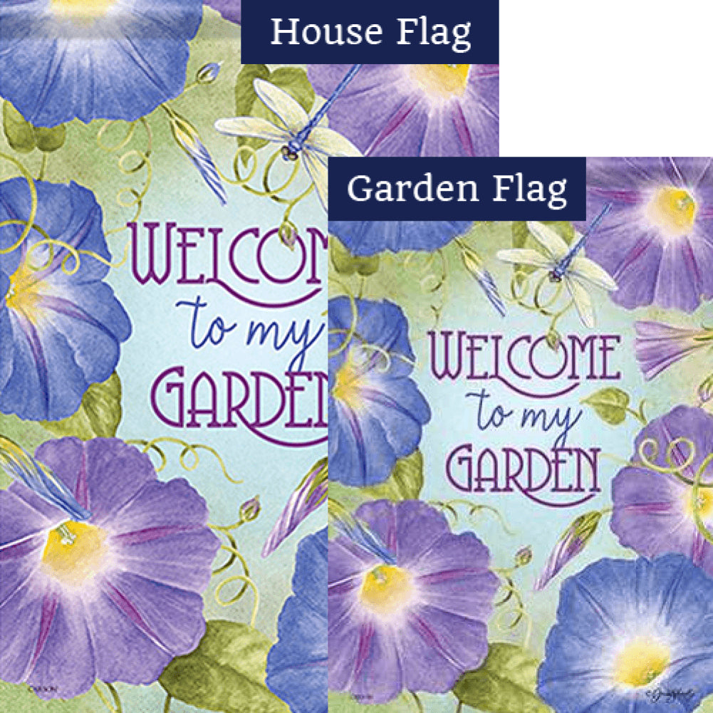 Morning Glory Garden Double Sided Flags Set (2 Pieces)