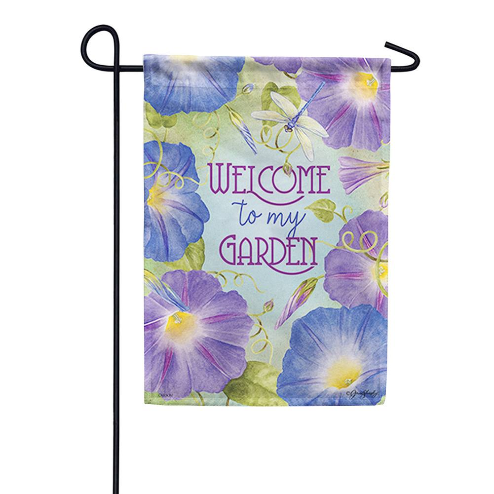 Morning Glory Garden Double Sided Garden Flag