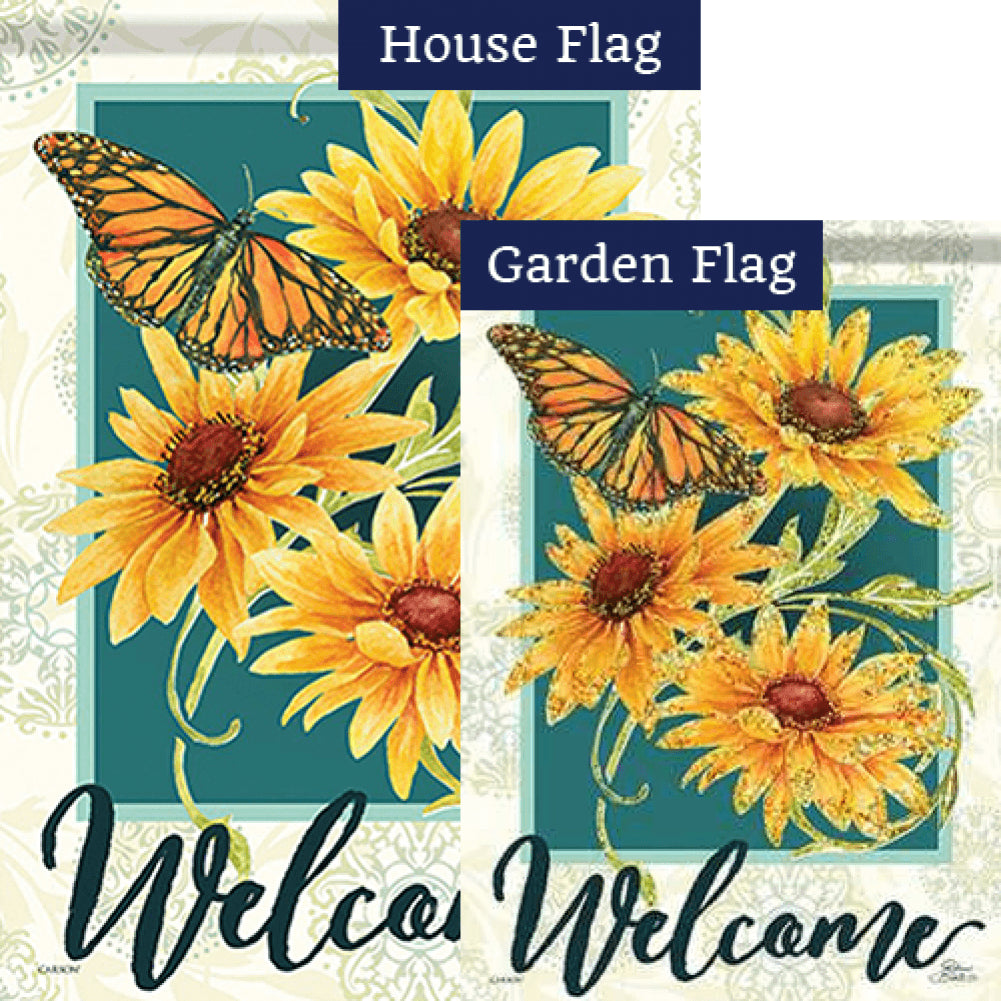 Sundrenched Blossoms Glitter Trends Double Sided Flags Set (2 Pieces)