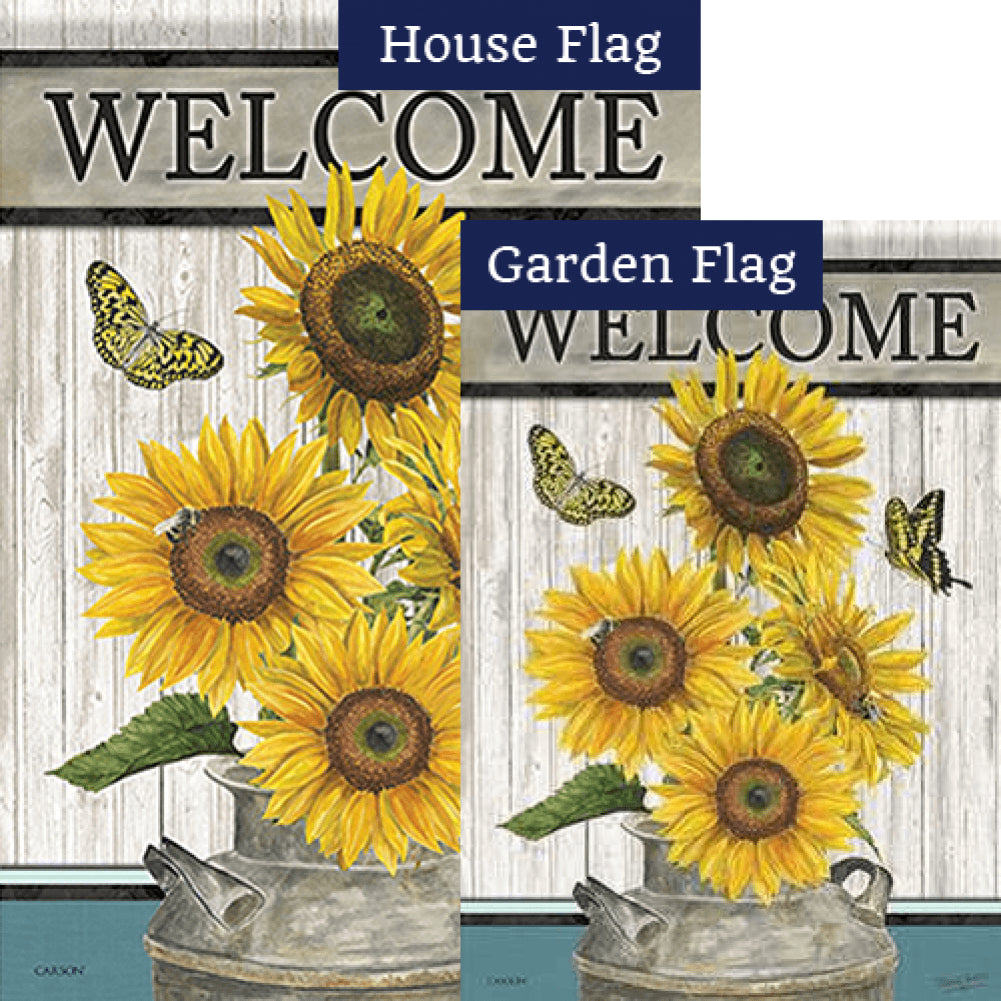 Face The Sun Double Sided Flags Set (2 Pieces)