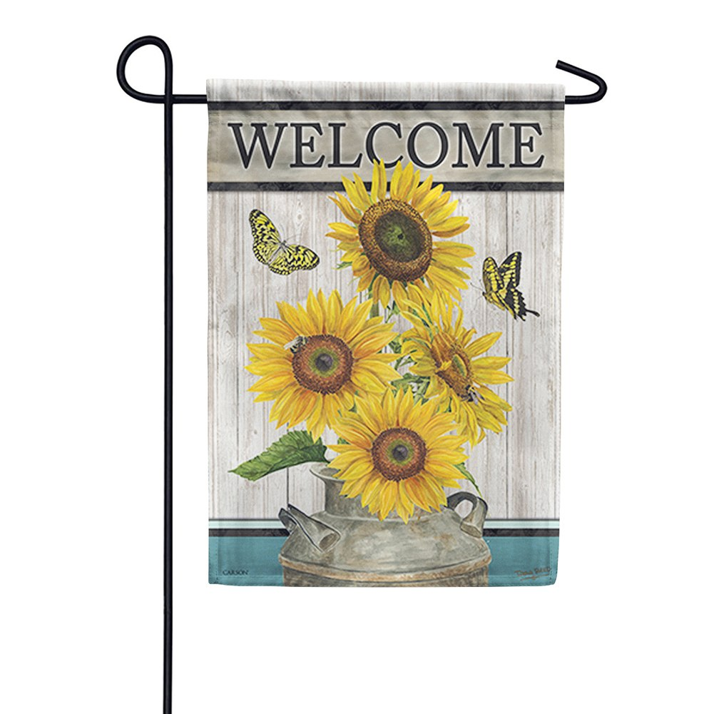 Face The Sun Double Sided Garden Flag