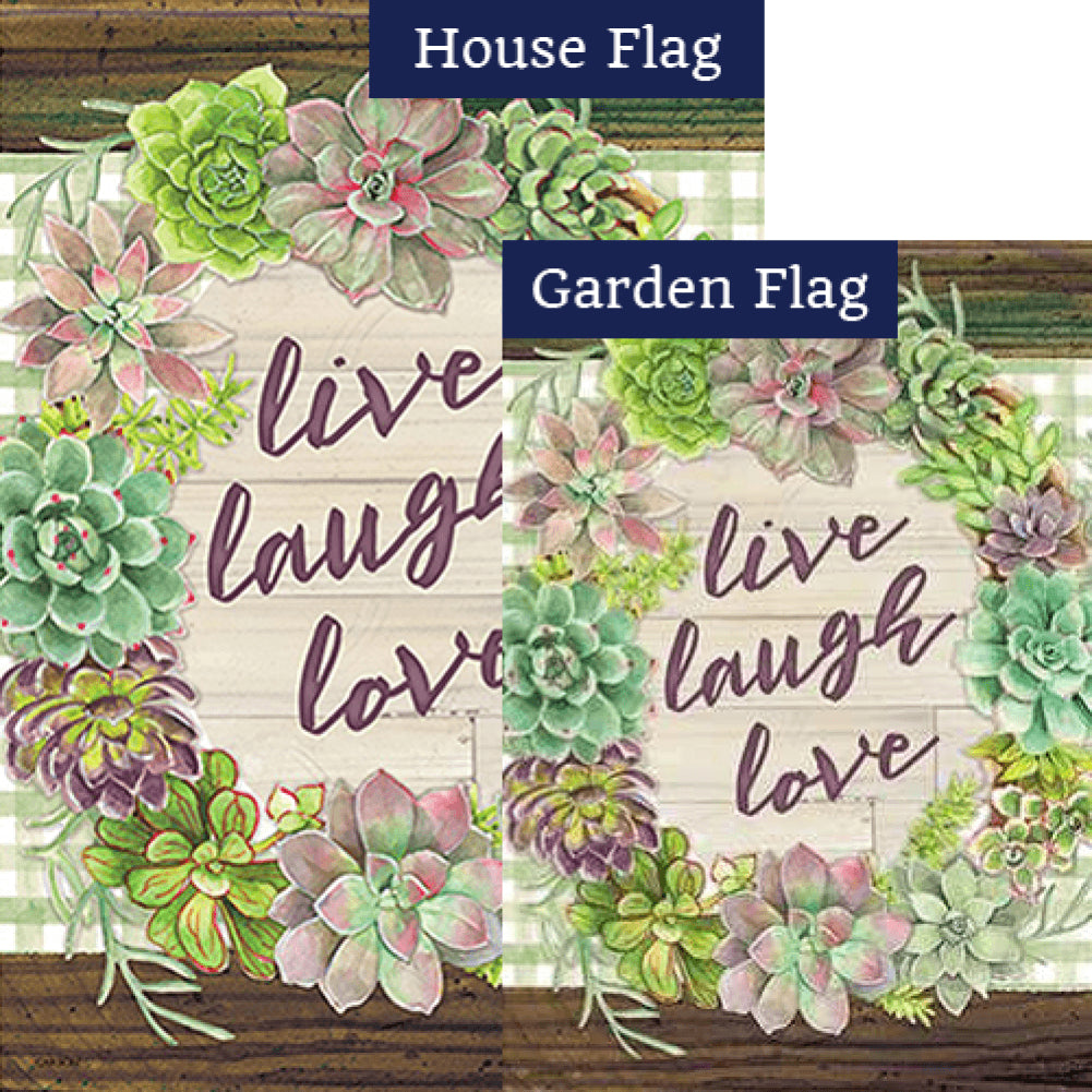 Rustic Rosettes Double Sided Flags Set (2 Pieces)