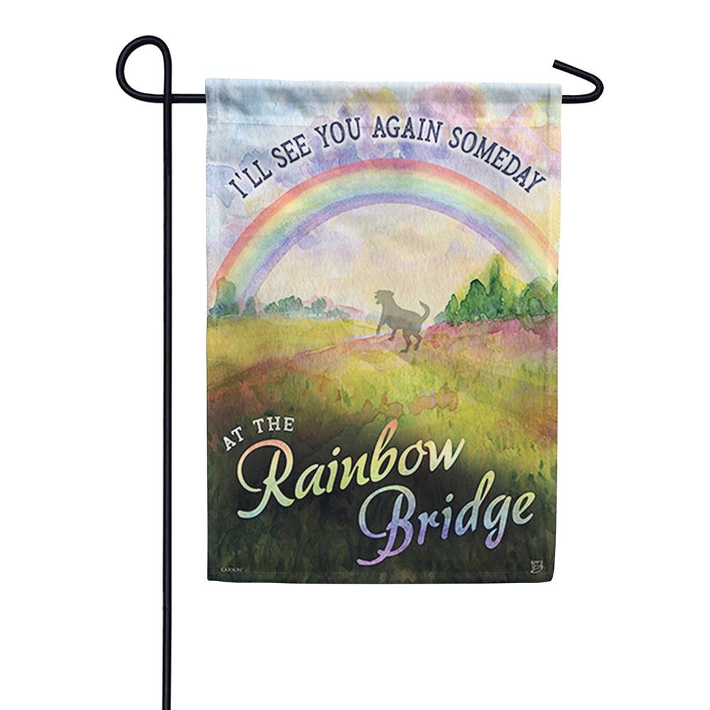 Rainbow Dog Garden Flag