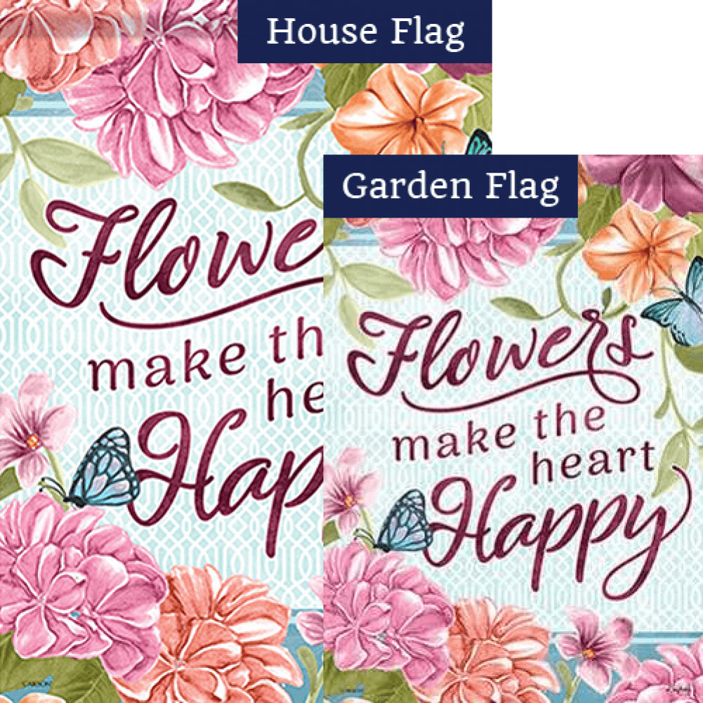 Flowers & Ivy Double Sided Flags Set (2 Pieces)