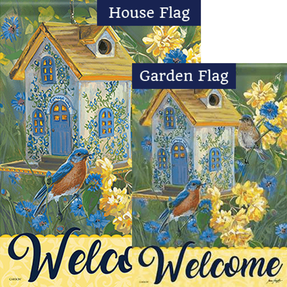 Bluebird Cottage Double Sided Flags Set (2 Pieces)
