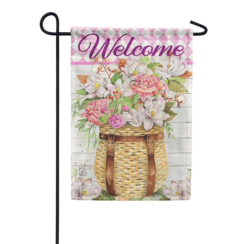 Adirondack Basket Double Sided Garden Flag