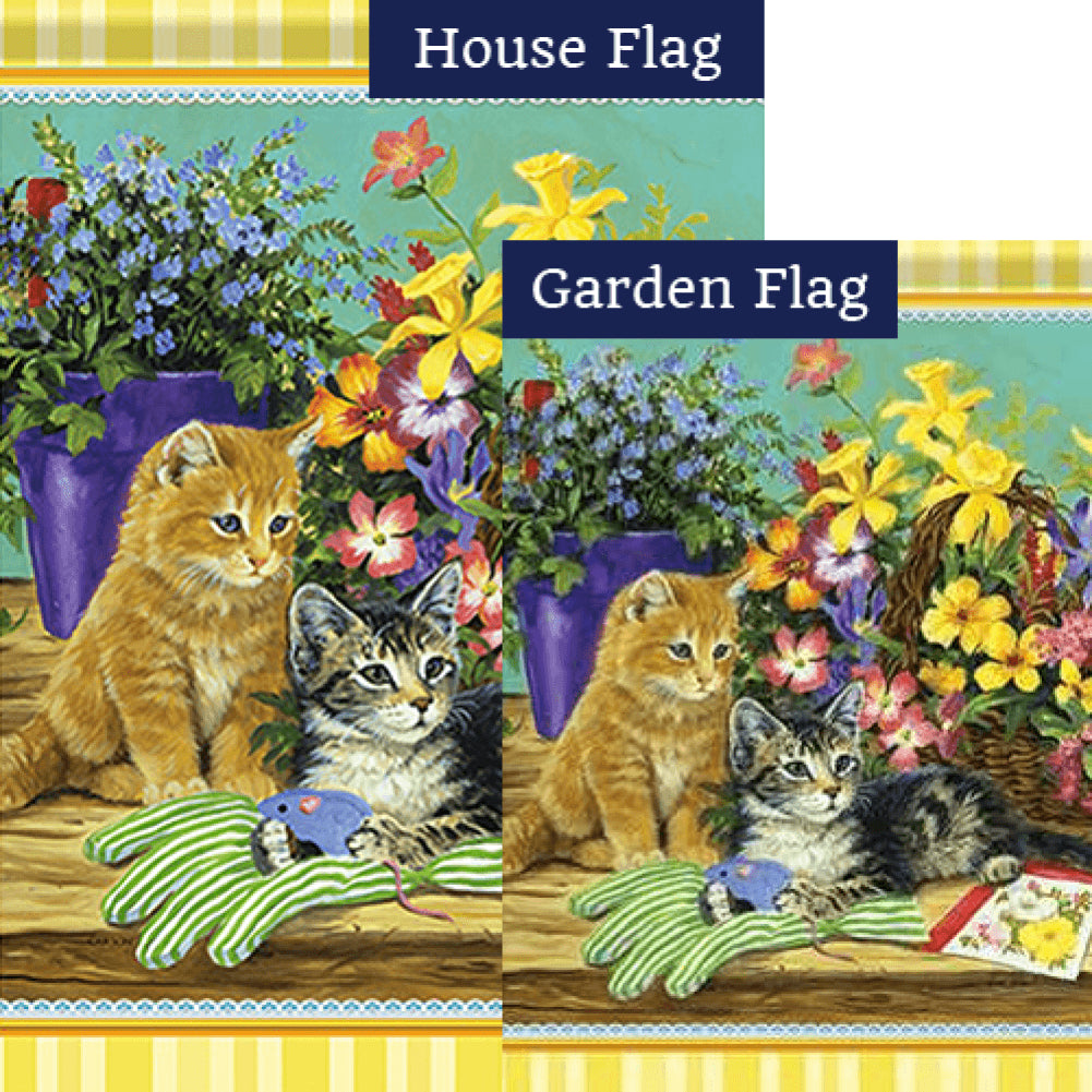 Little Bloomers Kitten Double Sided Flags Set (2 Pieces)