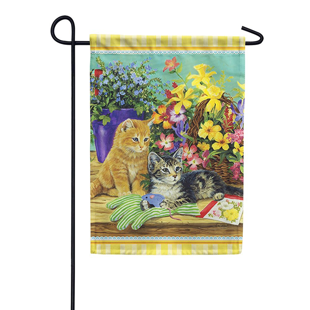 Little Bloomers Kitten Double Sided Garden Flag