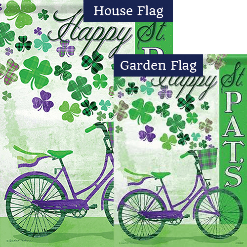 St. Pat's Bike Double Sided Flags Set (2 Pieces)