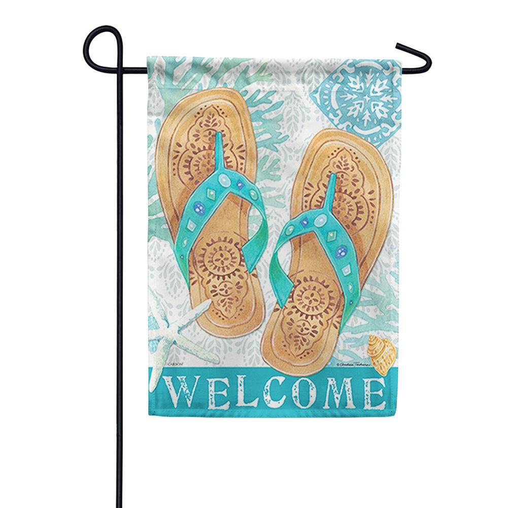 Beachcomber Flip Flop Double Sided Garden Flag