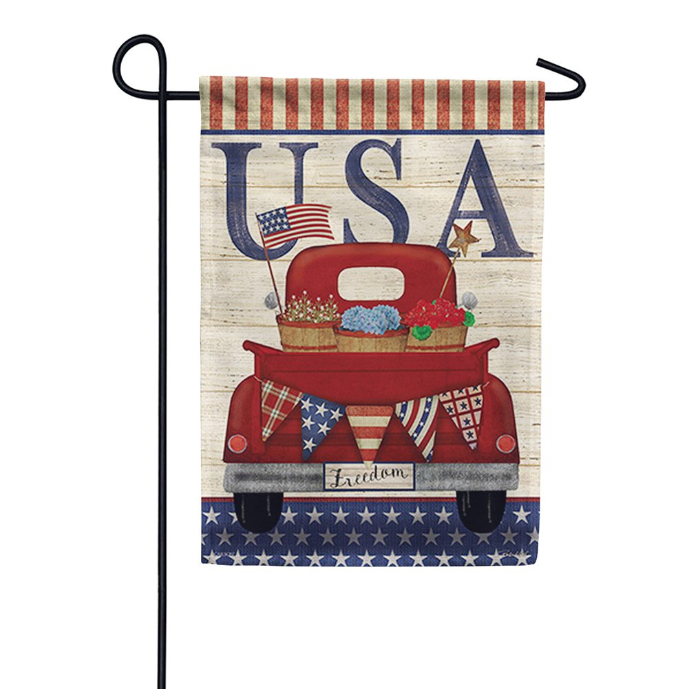Freedom Truck Double Sided Garden Flag