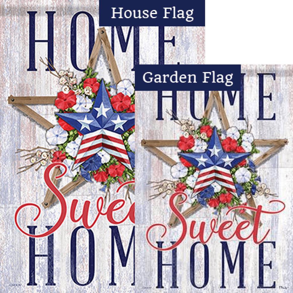 Patriotic Layers Double Sided Flags Set (2 Pieces)