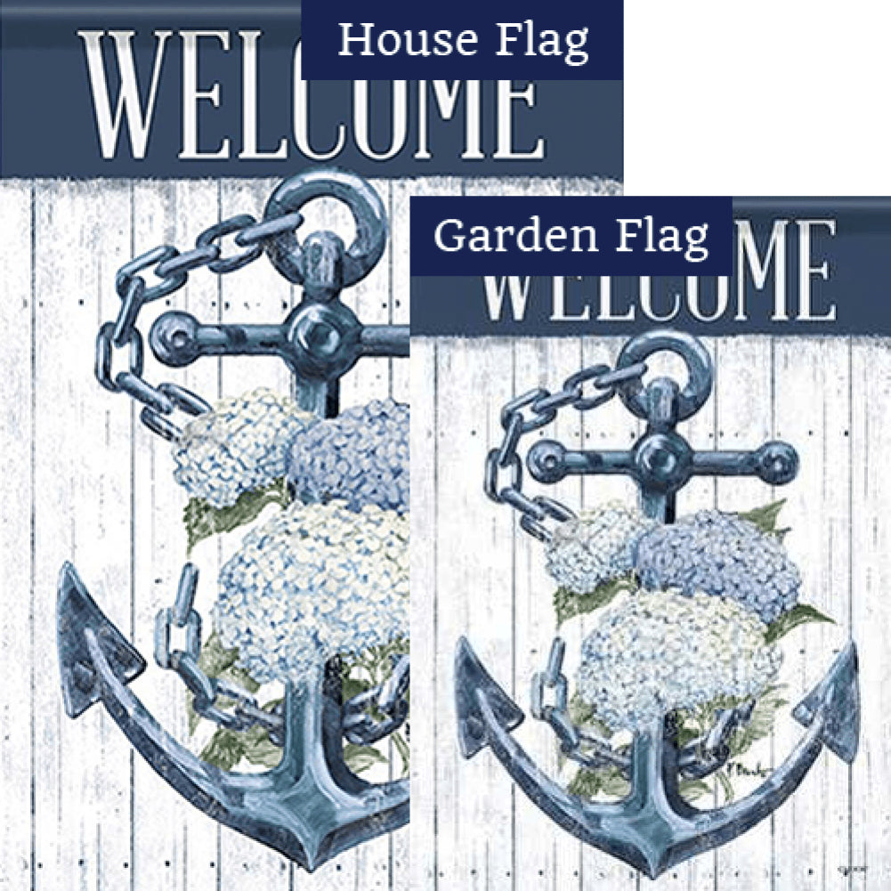 Botanical Anchor Double Sided Flags Set (2 Pieces)