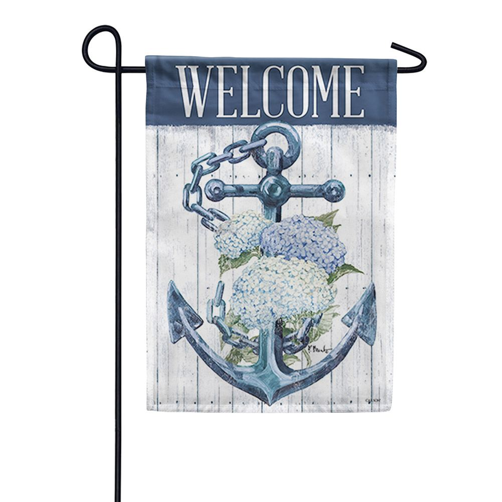 Botanical Anchor Double Sided Garden Flag