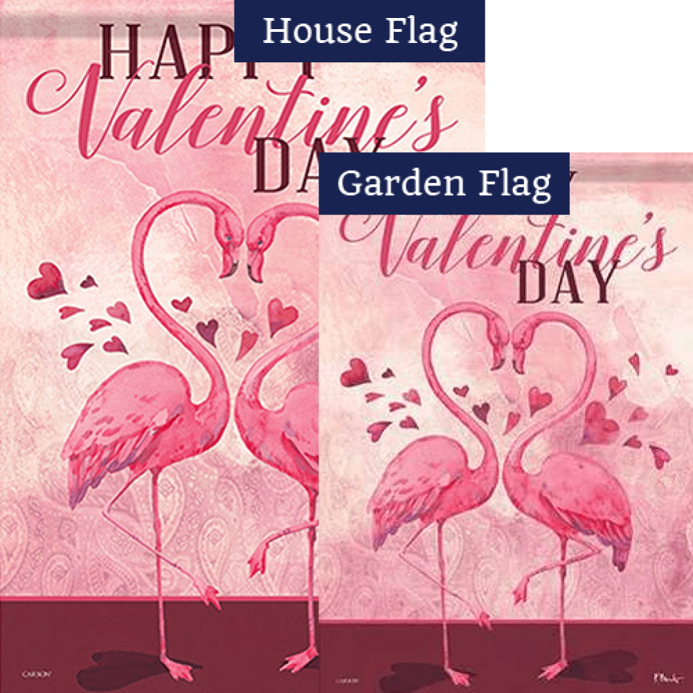 Flamingo Love Double Sided Flags Set (2 Pieces)