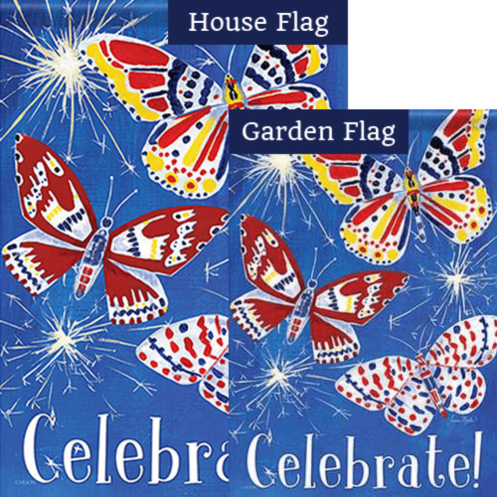 Butterfly Celebration Double Sided Flags Set (2 Pieces)