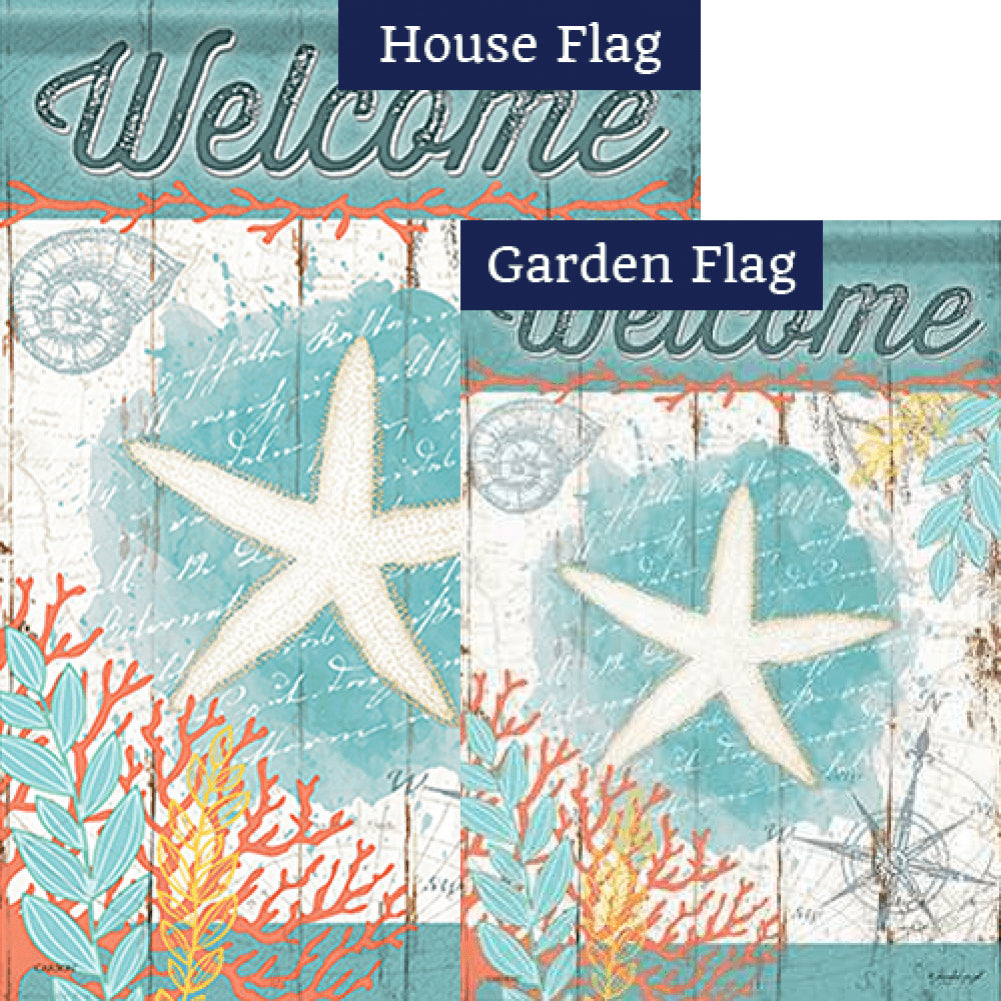 Nautical Navigation Double Sided Flags Set (2 Pieces)