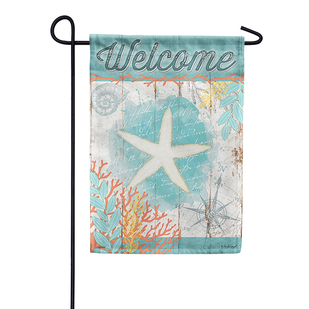 Nautical Navigation Double Sided Garden Flag
