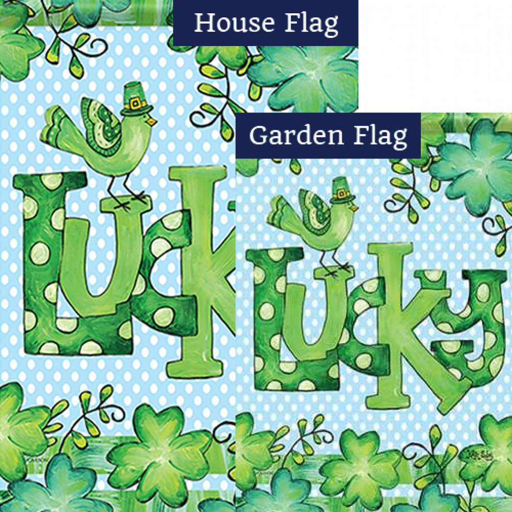 Feeling Lucky Double Sided Flags Set (2 Pieces)