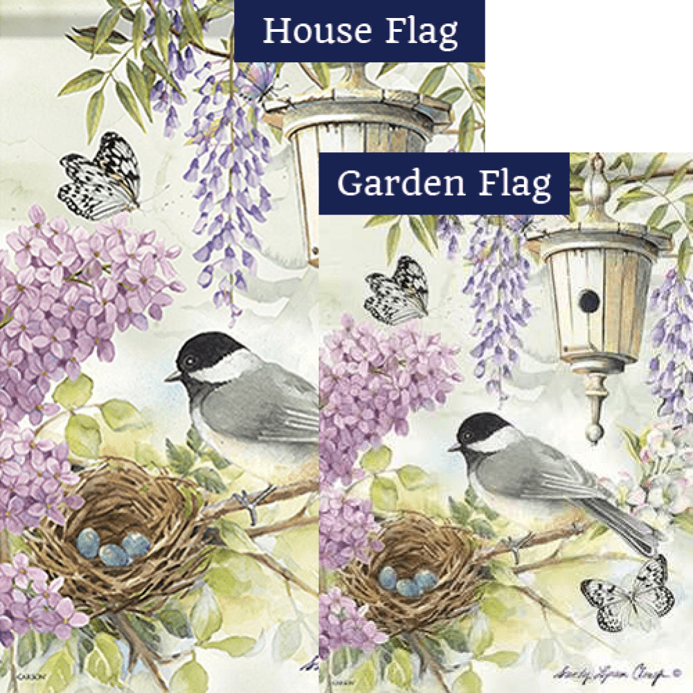 Chickadee Birdsong Double Sided Flags Set (2 Pieces)