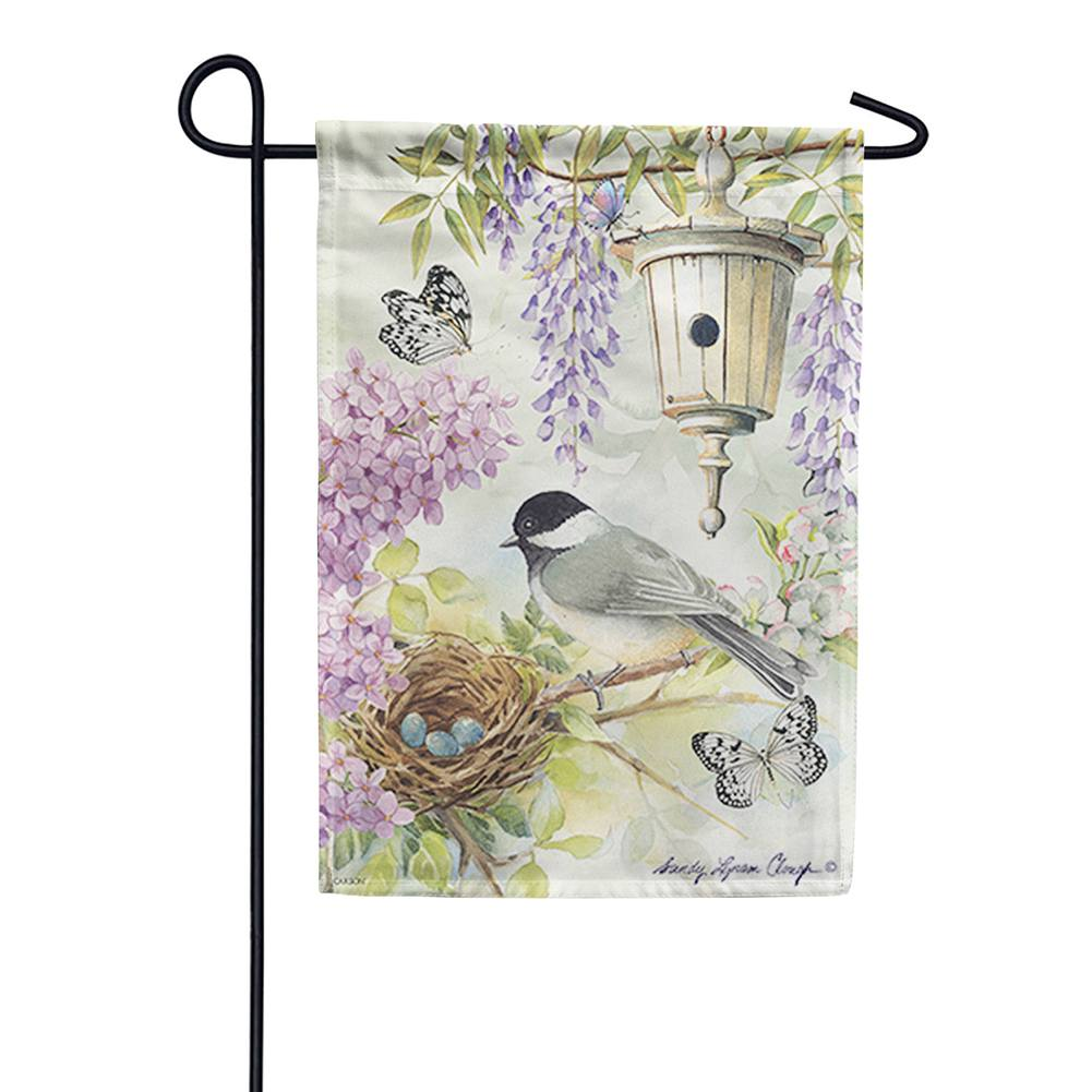 Chickadee Birdsong Double Sided Garden Flag