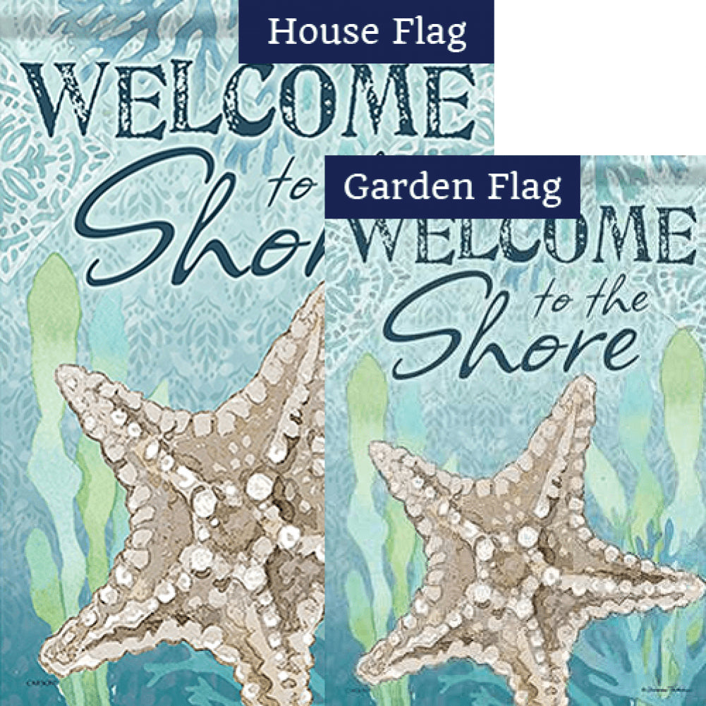 Beachcomber Starfish Double Sided Flags Set (2 Pieces)