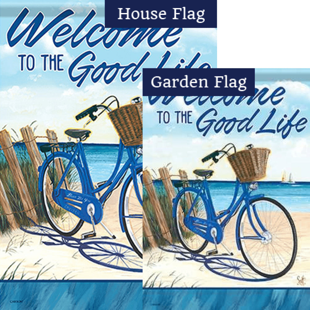 Blue By You Double Sided Flags Set (2 Pieces)