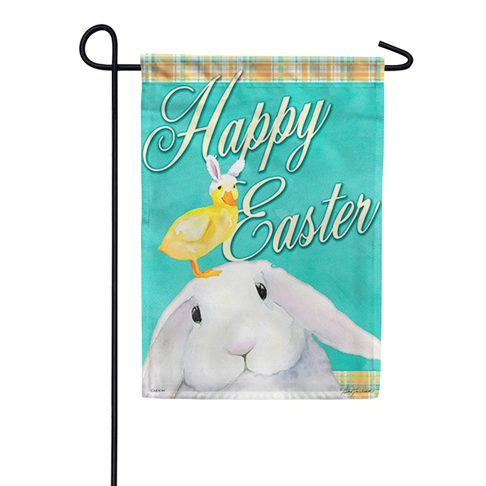 Easter Pals Happy Easter Double Sided Garden Flag