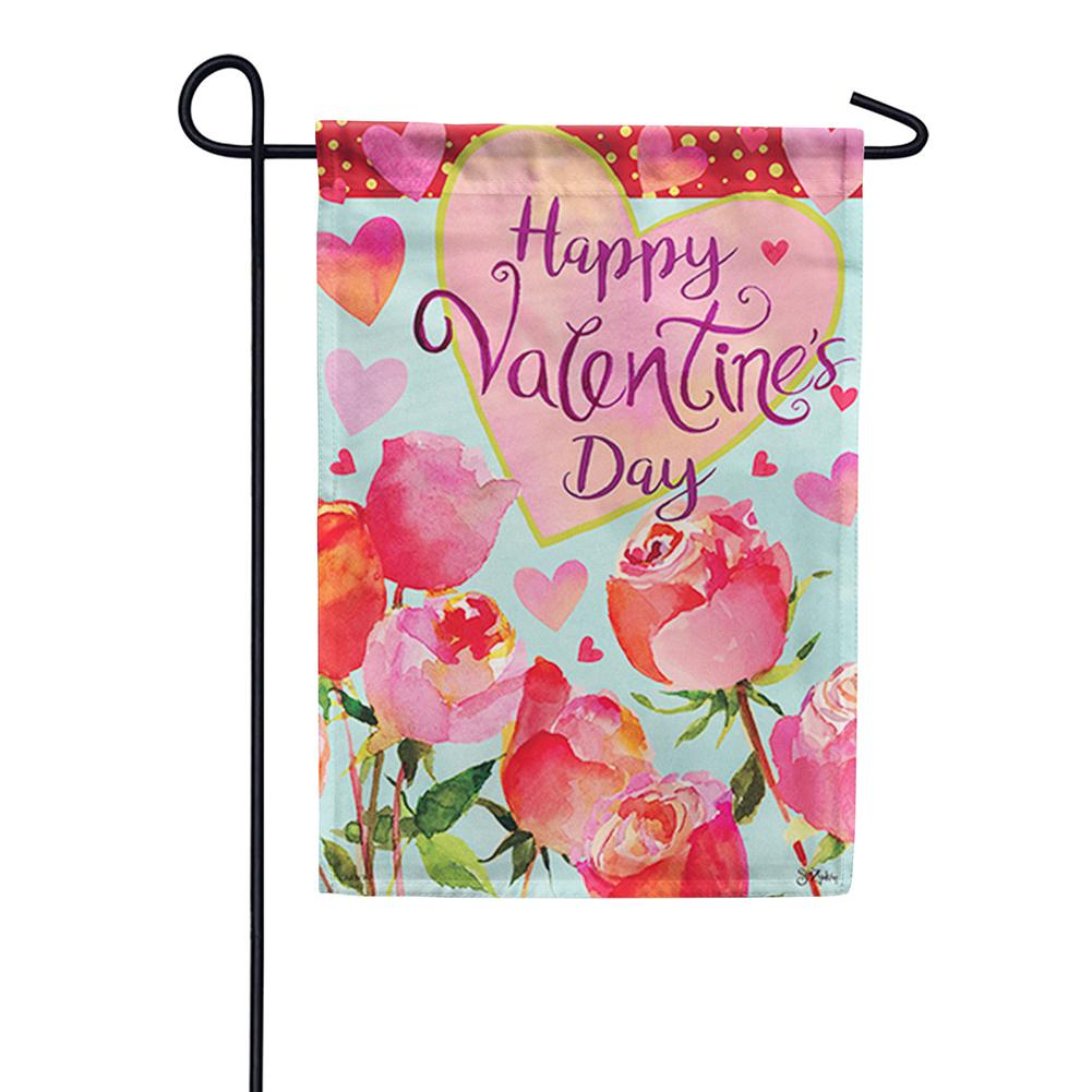 Valentines & Roses Double Sided Garden Flag