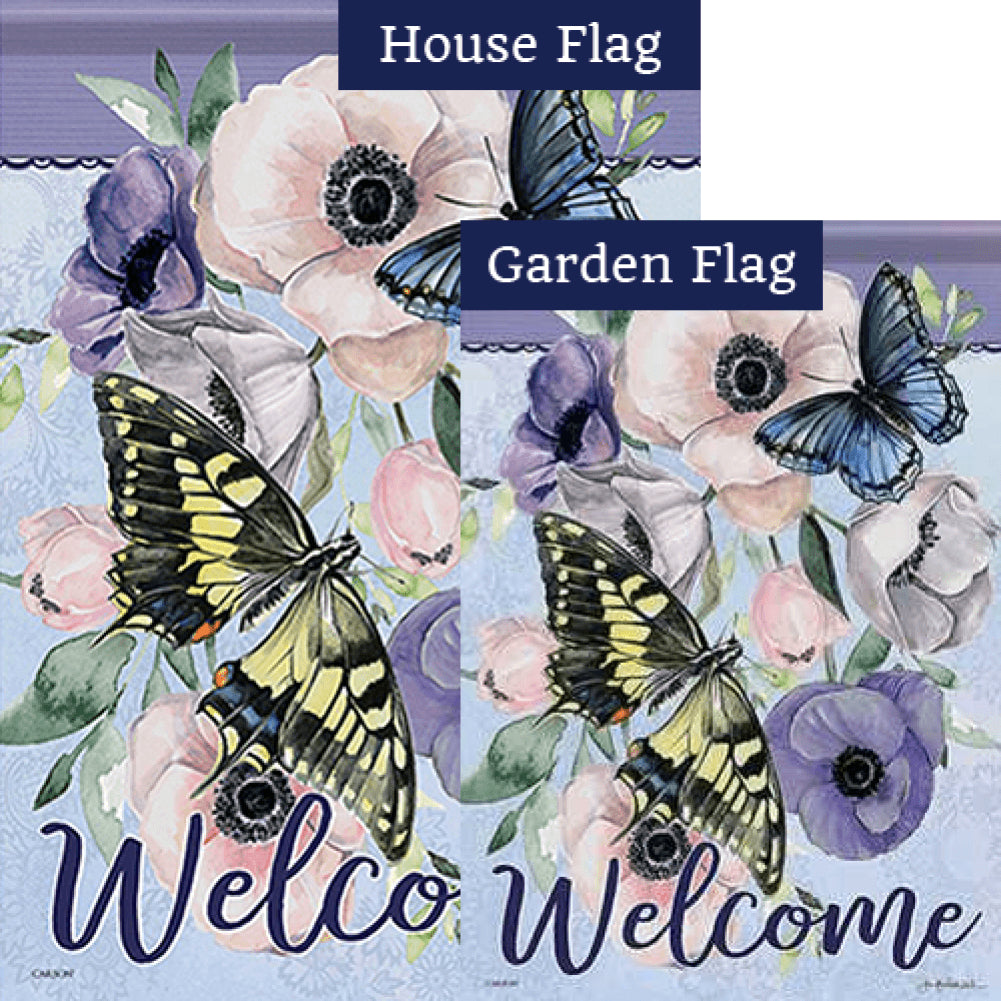 Butterfly Collection Double Sided Flags Set (2 Pieces)