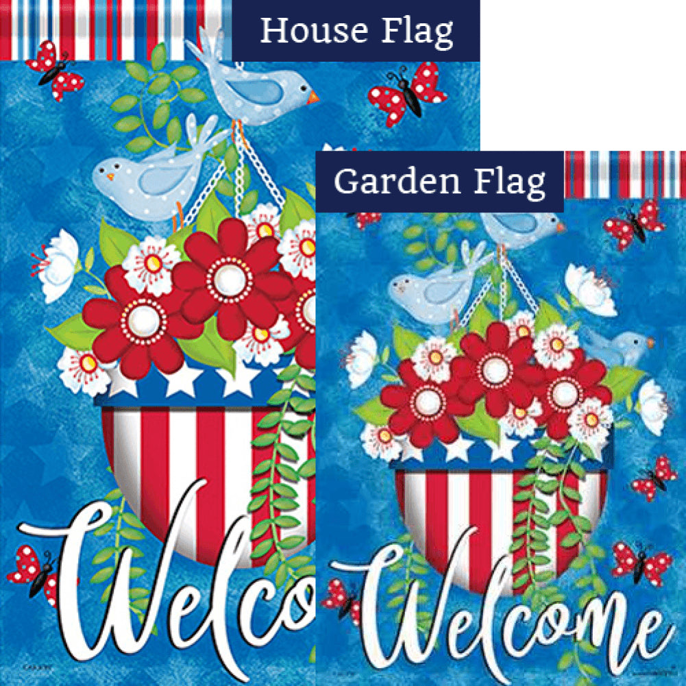 Glory Birds Double Sided Flags Set (2 Pieces)