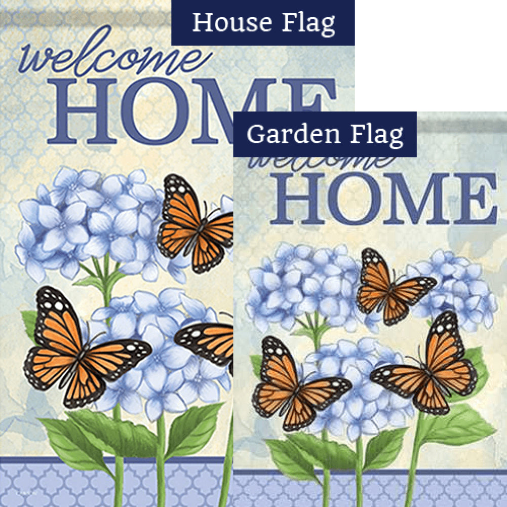 Hydrangeas At Home Double Sided Flags Set (2 Pieces)