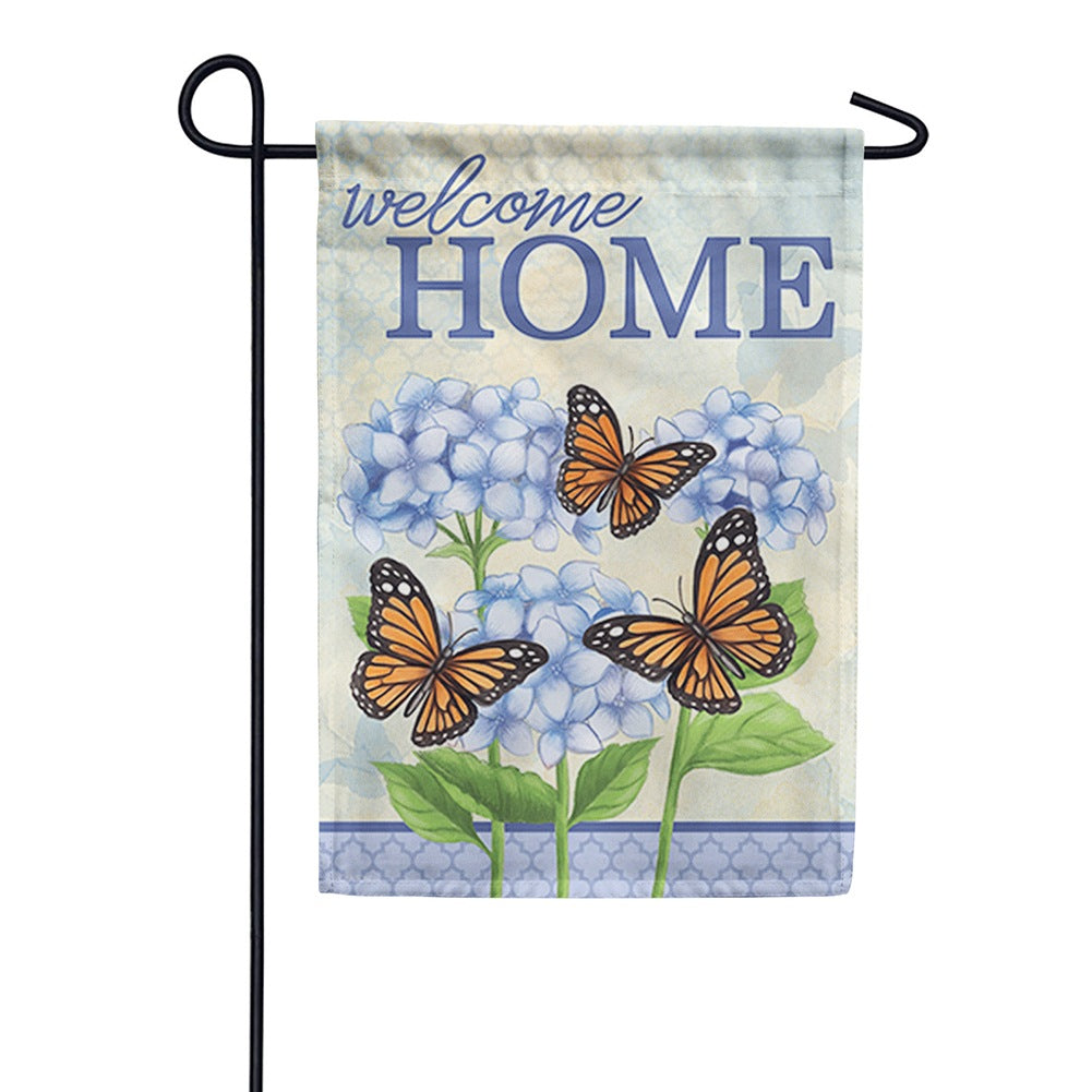 Hydrangeas At Home Double Sided Garden Flag