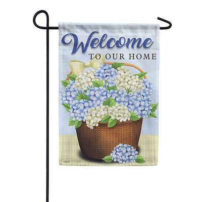Nantucket Basket Double Sided Garden Flag