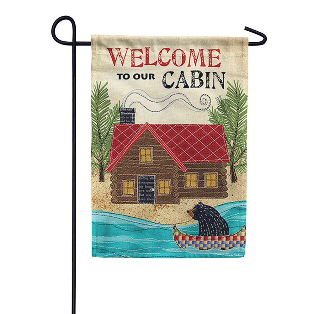 Our Cabin Double Sided Garden Flag