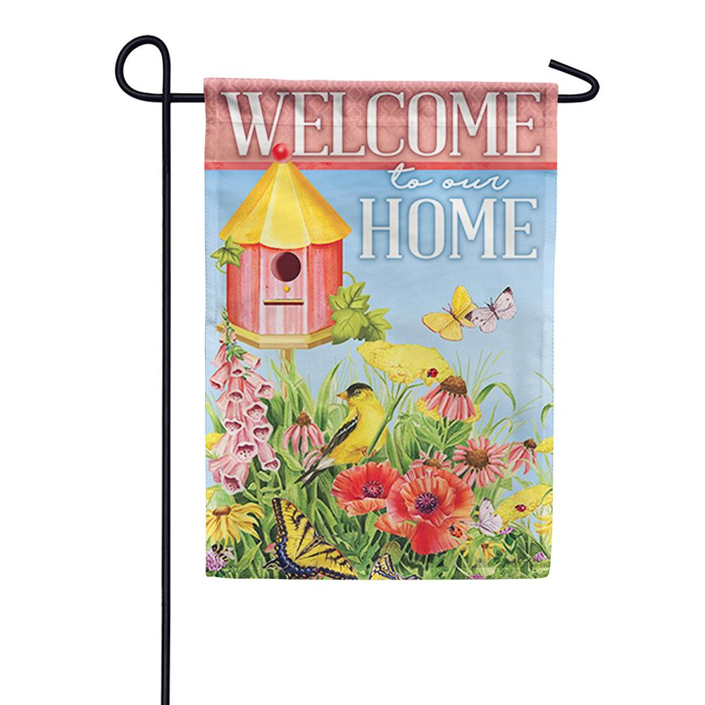 Goldfinch Serenity Double Sided Garden Flag