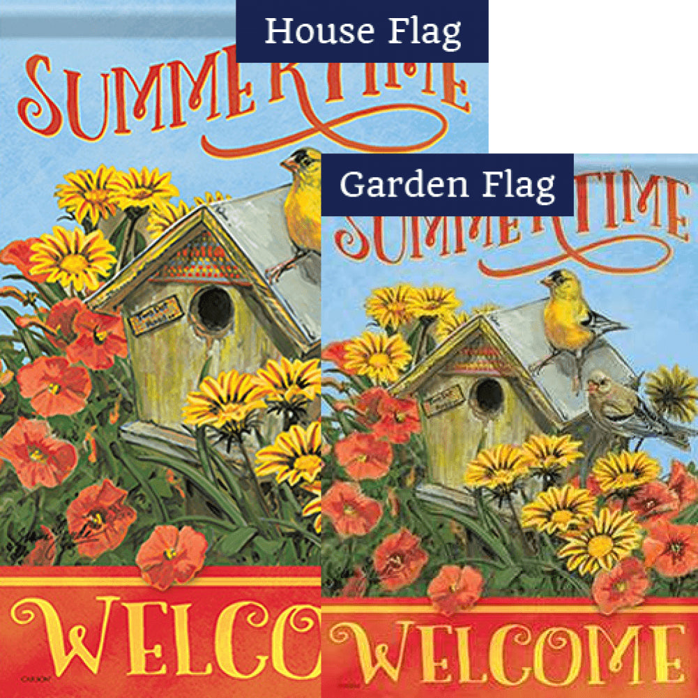 Golden Summertime Double Sided Flags Set (2 Pieces)