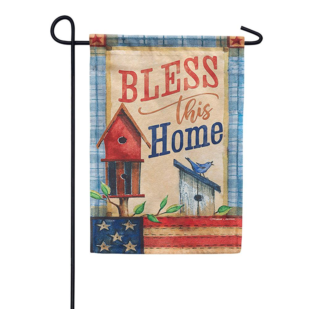 Patriotic Patchwork Double Sided Garden Flag