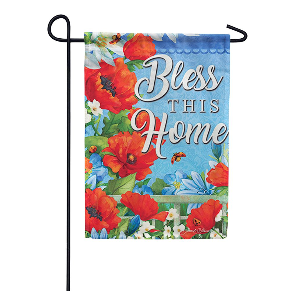 Colorful Garden Glitter Trends Double Sided Garden Flag