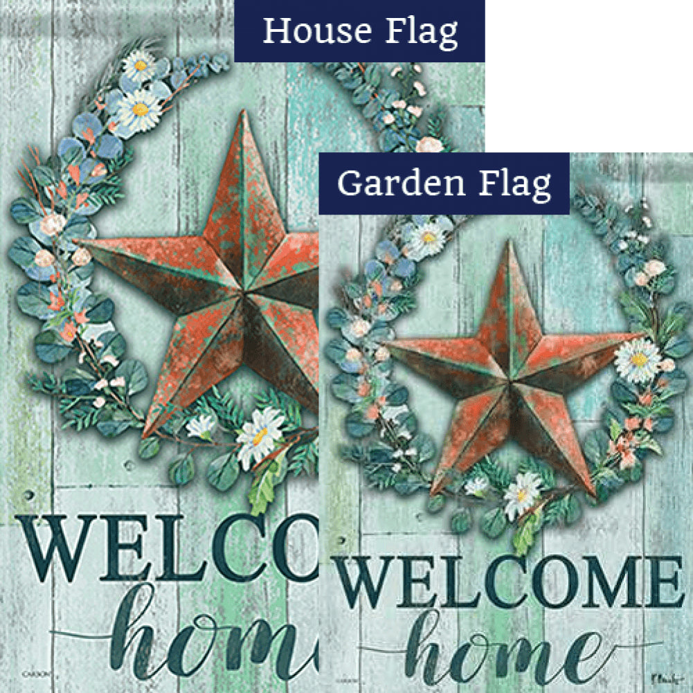 Abloom Barn Star Double Sided Flags Set (2 Pieces)