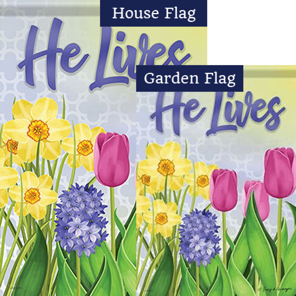 Glory In The Morning Double Sided Flags Set (2 Pieces)