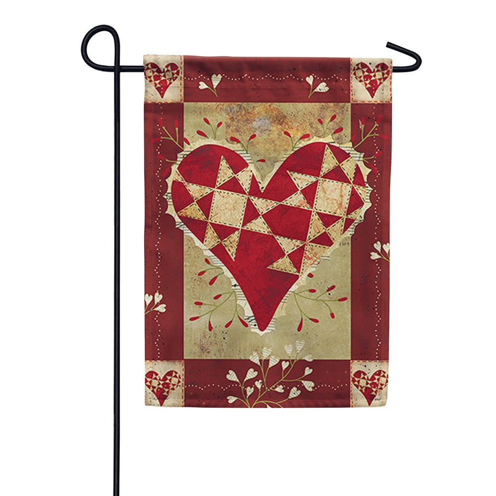 Primitive Love Double Sided Garden Flag