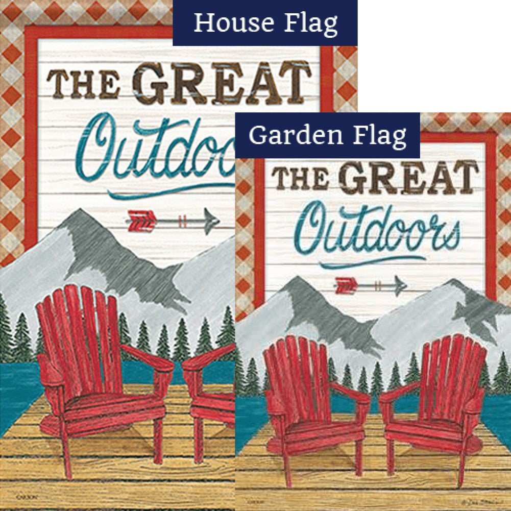 The Great Outdoors Double Sided Flags Set (2 Pieces)