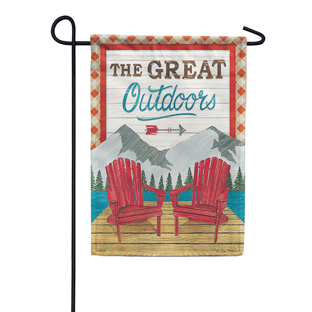 The Great Outdoors Double Sided Garden Flag